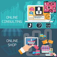 Concept for online shopping and consulting service
