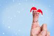 Glückliche Finger Weihnachten