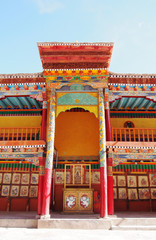 Colorful local architecture in north India