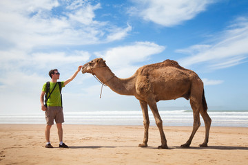 camel and tourist