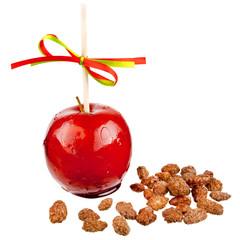 Liebesapfel mit gebrannten Mandeln