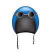 Retro motorcycle helmet and goggles