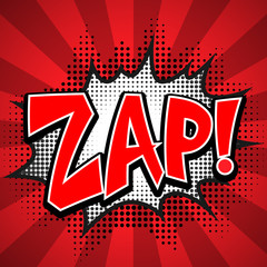 zap comic speech Bubble. Vector illustration