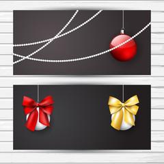 Christmas flyer dark set