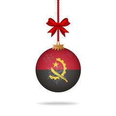 Christmas ball flag Angola