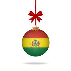 Christmas ball flag Bolivia