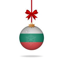 Christmas ball flag Bulgaria