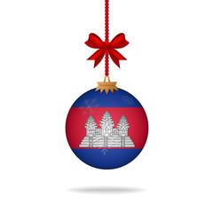 Christmas ball flag Cambodia
