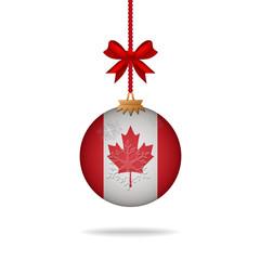 Christmas ball flag Canada