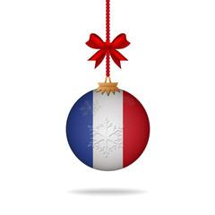 Christmas ball flag France