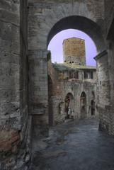 Tuscany:  foreshortening of pienza