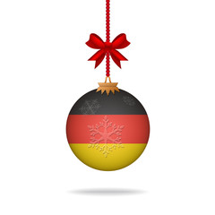 Christmas ball flag Germany