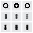 Vector tire icon set - 74070162