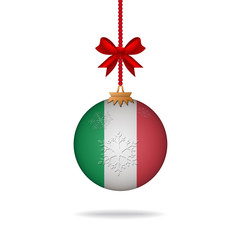 Christmas ball flag Italy