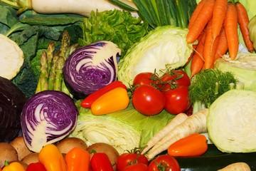 Fresh organic vegetables