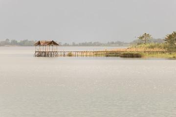 Tranquil scene on lake