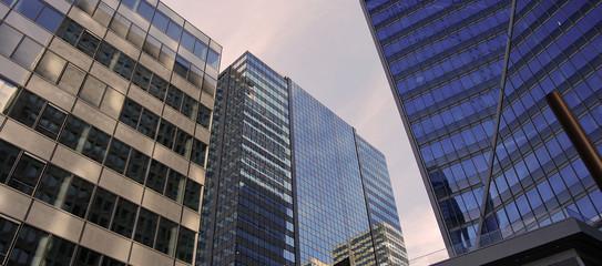 Immeubles de bureaux crépuscule
