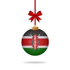 Christmas ball flag Kenya
