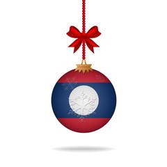 Christmas ball flag Laos