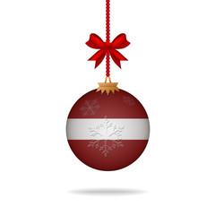 Christmas ball flag Latvia