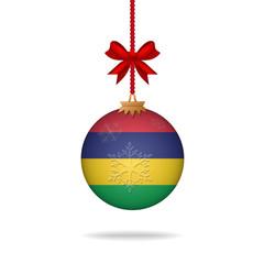 Christmas ball flag Mauritius