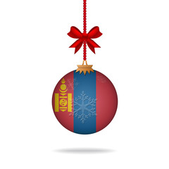 Christmas ball flag Mongolia