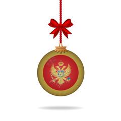 Christmas ball flag Montenegro