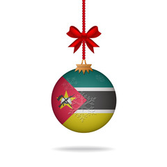 Christmas ball flag Mozambique