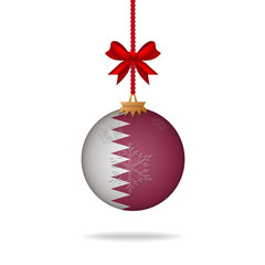 Christmas ball flag Qatar