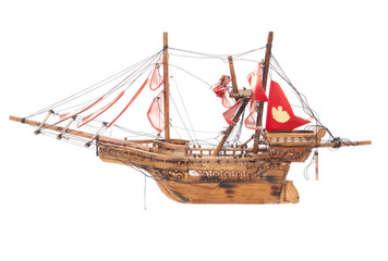 wooden pirate ship boat model