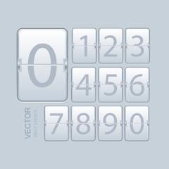 Vector modern numeric scoreboard set