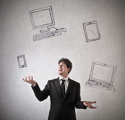 Juggling with devices