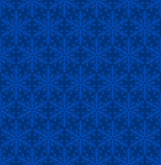 Snowflakes Seamless Background Pattern. Vector