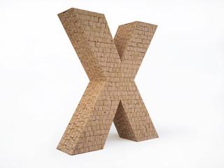 Brick Letter X