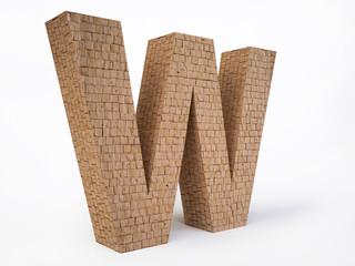 Brick Letter W