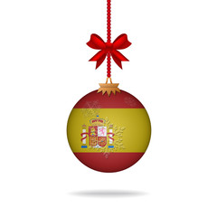 Christmas ball flag Spain