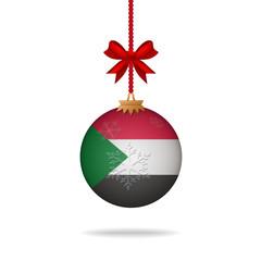 Christmas ball flag Sudan