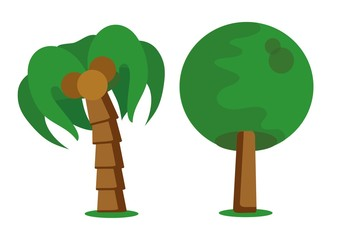 Мультфильм значок дерево