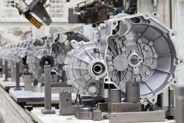 Auto Produktion Getriebegehäuse Schaltgetriebe