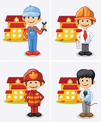 Мультфильм инженер строитель, журналист, хозяин дома