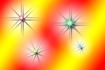 abstract drawing with star