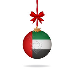 Christmas ball flag United Arab Emirates
