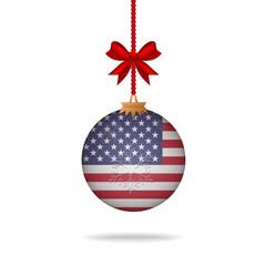 Christmas ball flag United States