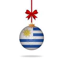Christmas ball flag Uruguay