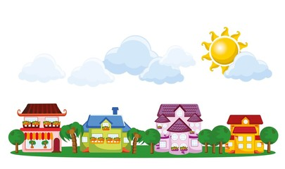 Мультфильм картина домов