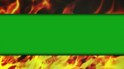 Green Screen Bars on Flames Background