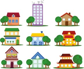 Мультфильм Иконки домов