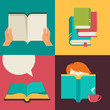 Book and reading concept vector design