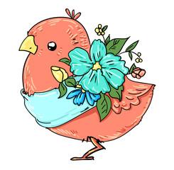 bird color.bright beautiful bird. vector bird