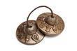 Tibetan Buddhist tingsha cymbals isolated - 74075731